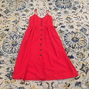Red Button-Down Midi TJ Maxx Dress